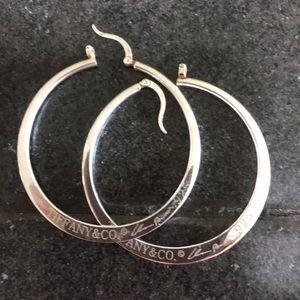Tiffany & co 925 sterling silver hoop earrings